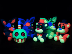 Five Nights at Freddy's Blacklight Plushies Box of 6