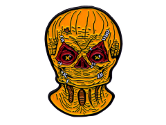 Trick 'r Treat Sam (Unmasked) Enamel Pin