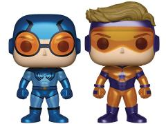 Pop! Heroes: Booster Gold & Blue Beetle (Metallic) Two Pack PX Previews Exclusive