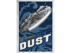 Star Wars Galactic Propaganda Eat My Space Dust Displate Metal Print