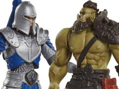 Warcraft Mini Figure Two Pack Wave 01 - Alliance Soldier Vs. Horde Warrior