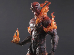 Metal Gear Solid Play Arts Kai Man On Fire