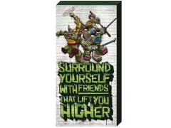 "TMNT ""Surround Yourself..."" Inspirational Canvas Art"