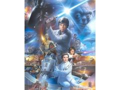 Star Wars Episode VI: Return of the Jedi Retro Characters II Canvas Art Print