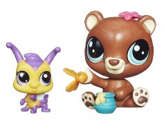 Littlest Pet Shop Pet Pawsabilities Wave 3 - Happy Honeyman & Brianna Buzzer