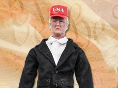 "World's Greatest Presidents Donald Trump (Black Suit) 8"" Retro Figure,"