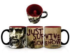 The Walking Dead Just Survive Somehow Molded Zombie Mug