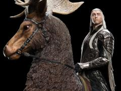 The Hobbit Thranduil On Elk Statue