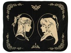 The Legend of Zelda Link & Zelda Coral Fleece Throw Blanket