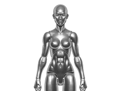 Vitruvian H.A.C.K.S. Female Figure Blank (Chrome)