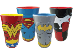 DC Heroines Molded Pint Glass Four Pack