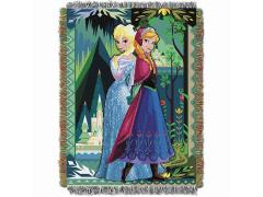 Frozen Two Worlds, One Heart Woven Tapestry Throw Blanket