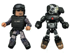 Captain America: Civil War Minimates Battle Damaged War Machine & Guard