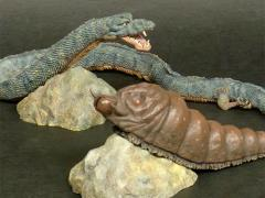 Godzilla Toho Daikaiju Series Mothra Larva & Manda (Destroy All Monsters) PX Previews Exclusive