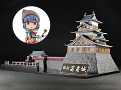 Laid-Back Camp Takashima Castle Model Kit With Rin Shima Figure