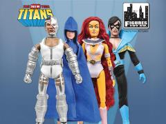 "DC Retro 8"" New Teen Titans Action Figure Series 01 - Set of 4"