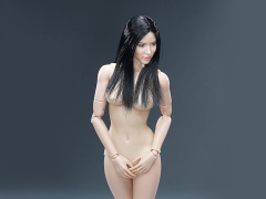 1/6 Scale Female Body Version 3.0 With Straight Black Hair Head Sculpt