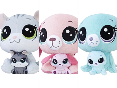 Littlest Pet Shop Plush Pairs Set of 3