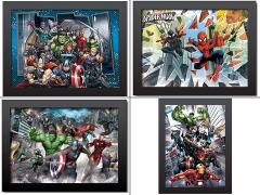 Marvel 3D Framed Artwork Set of 4
