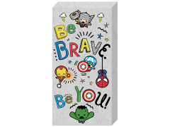 "Marvel Avengers Kawaii ""Be Brave. Be You!"" Inspirational Canvas Art"