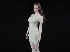 Women's Shoulder Dress (Pale) 1/6 Scale Accessory Set