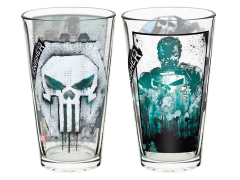 Marvel Comics The Punisher Pint Glass Set of 2