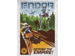 Star Wars Galactic Propaganda Endor Displate Metal Print