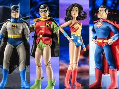 "Super Friends Hall of Justice Battle Pack 8"" Retro Figure Four-Pack #1 BBTS Exclusive (LE 25)"