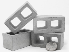 Mini Materials 1/6 Scale Mini Cinder Blocks (4 Pack)