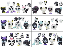Littlest Pet Shop Black & White Friends Wave 1 Set of 6