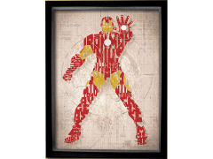 Marvel Iron Man Printed Glass Art