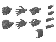Gundam Builders Parts HD 1/144 MS Hand 2 (Dark Gray) Box of 12