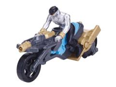 Zord Builder Collection Power Ranger Cycle With Figure - Turbo Cycle and Silver Ranger