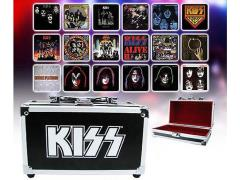Kiss Album Cover Coaster Set in Miniature Guitar Case SDCC 2015 Exclusive