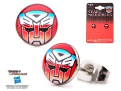 Autobot Printed Logo Round Ear Studs