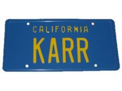 Knight Rider - KARR License Plate Replica