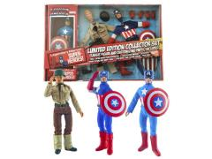 "Captain America 8"" Retro Figure Set Limited Edition"