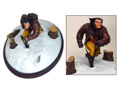 Marvel Premier Collection Wolverine in Snow Statue