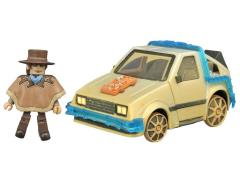 Back To The Future Minimates Vehicle Rail Ready Time Machine