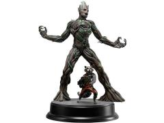 Guardians of The Galaxy 1/9 Scale Model Kit - Groot With Rocket Raccoon (Unpainted)