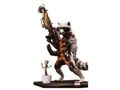 Guardians of The Galaxy Action Hero Vignette - Rocket Raccoon With Baby Groot