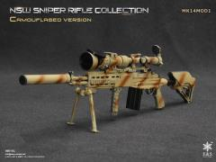 1/6 Scale NSW Sniper Rifle Collection Camouflaged - MK14MOD1