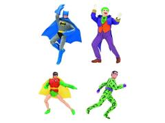 "DC World's Greatest Heroes Series 1 Retro 8"" Figures Set of 4"