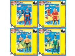 "DC World's Greatest Heroes Super Powers Series 1 Retro 8"" Figures Set of 4"