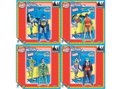 "DC World's Greatest Heroes Super Powers Series 2 Retro 8"" Figures Set of 4"