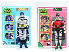 "Batman 1966 Classic TV World's Greatest Heroes Batman & Robin (Tied Up) Retro 8"" Figures Set of 2"