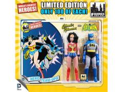 "DC World's Greatest Heroes Wonder Woman & Batman 8"" Retro Figures Limited Edition Two Pack"