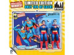 "DC World's Greatest Heroes Superman & Bizarro 8"" Retro Figures Limited Edition Two Pack"