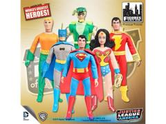 "DC World's Greatest Heroes Justice League Series 1 Retro 8"" Figures Set of 6"