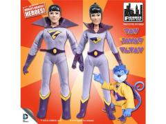 "Super Friends World's Greatest Heroes Series 1 The Wonder Twins With Gleek 8"" Retro Figures 3 Pack"